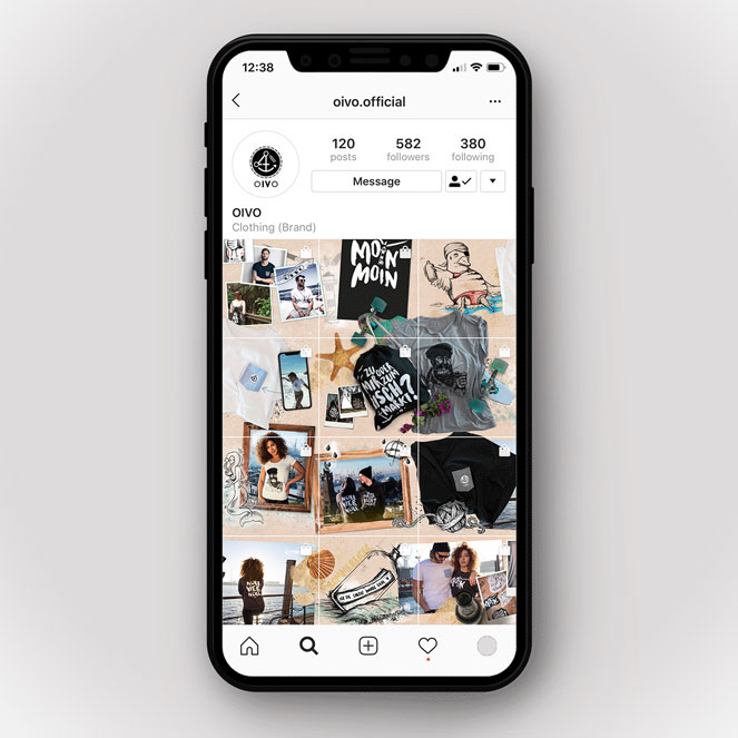 Instagram Feed OIVO im Seamless Grid Stil