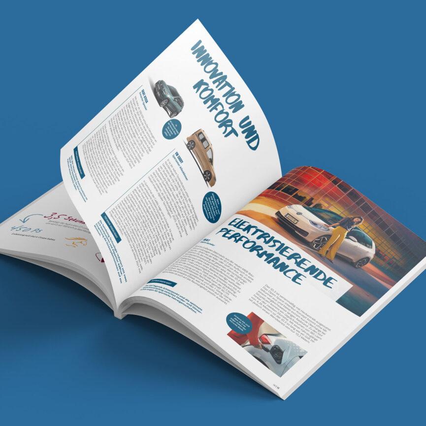 Porsche Bank Kundenmagazin Doppelinnenseite