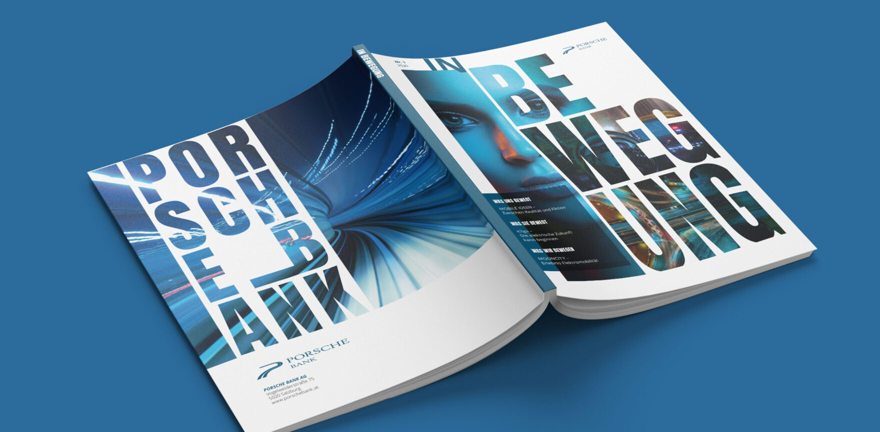 Porsche Bank Kundenmagazin Umschlaggestaltung