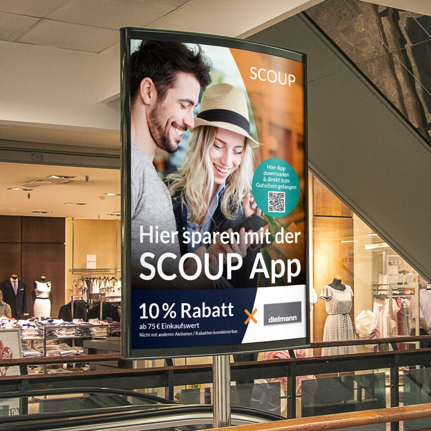 OOH Werbung sovendus Scoup App
