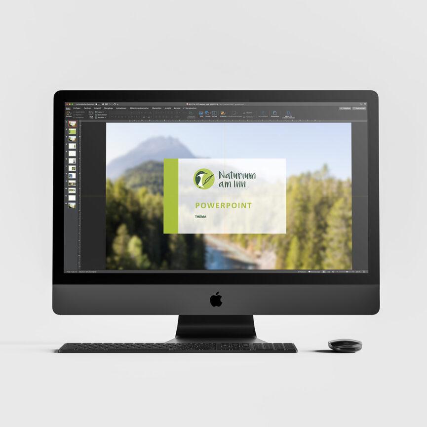 Naturium am Inn –MS Powerpoint Master-Bildschirm-Praesentation