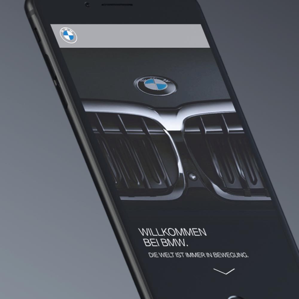BMW Digitales Welcome Package Smartphone responsive Design Startseite