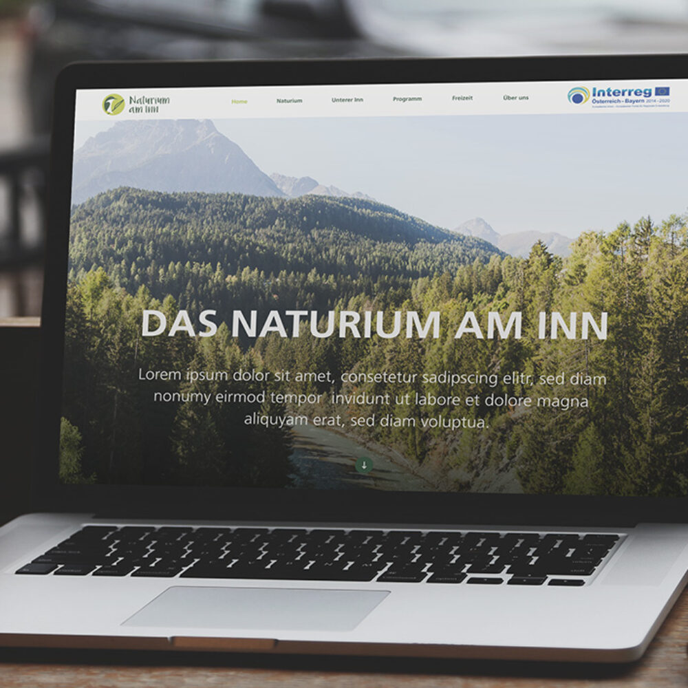 Typo-3 Website Naturium am Inn Laptop