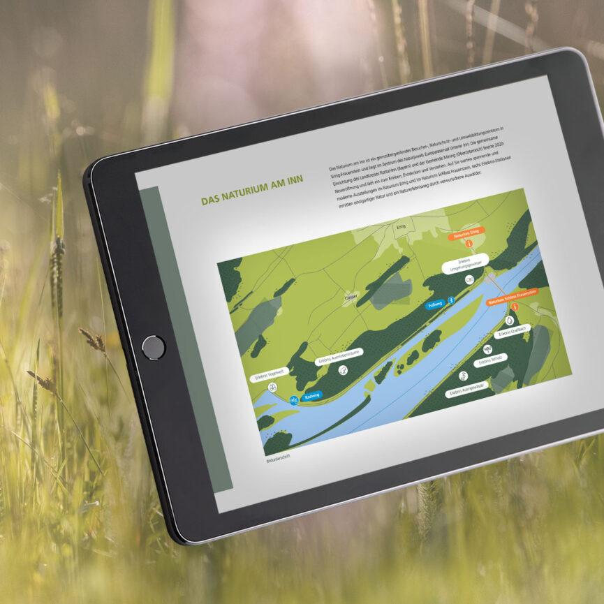 Website Naturium am Inn iPad