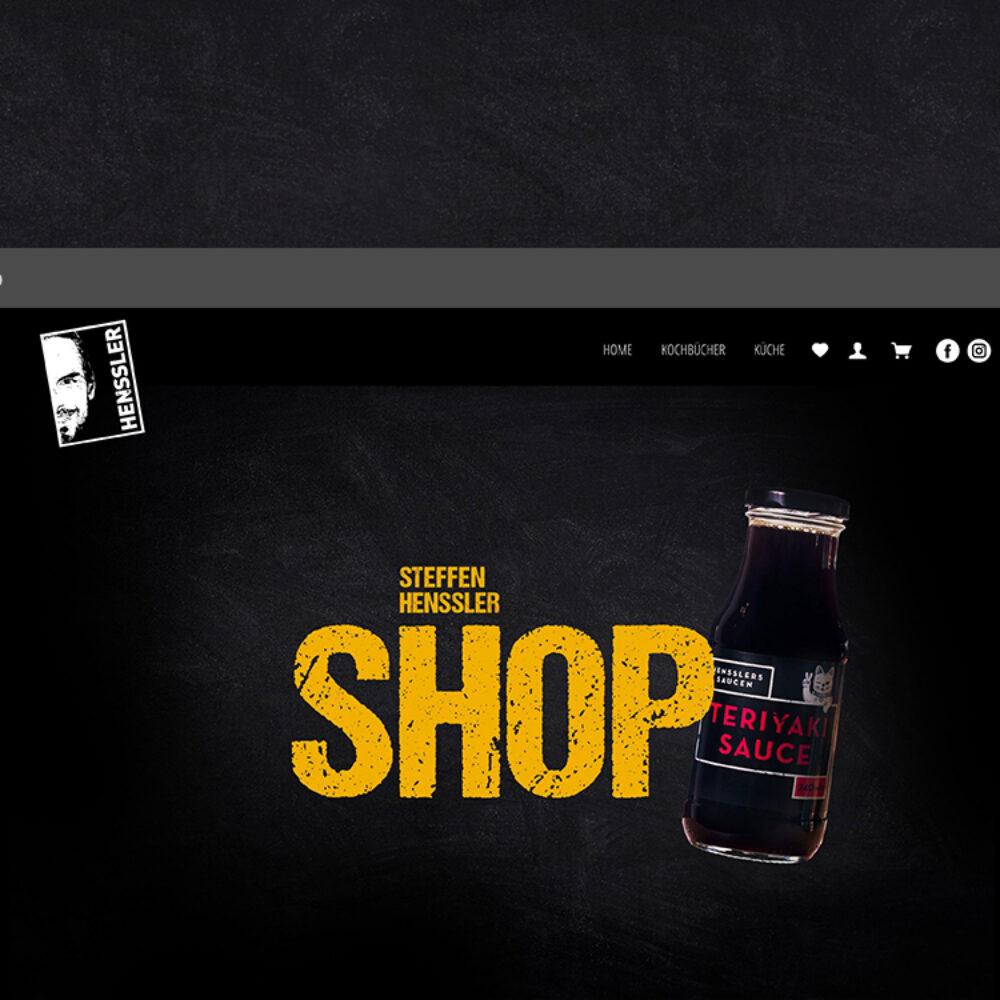 Uebersicht Home Seite Onlineshop