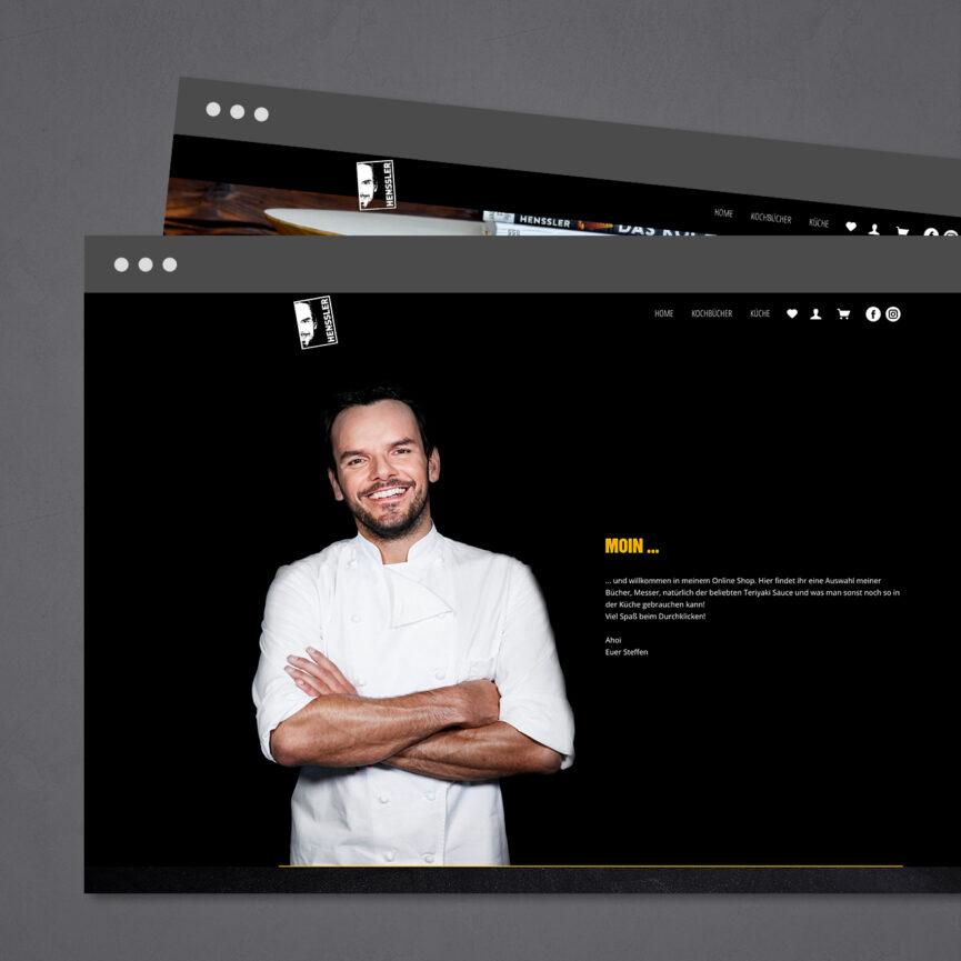 Portrait Steffen Henssler auf dem neuen Onlineshop