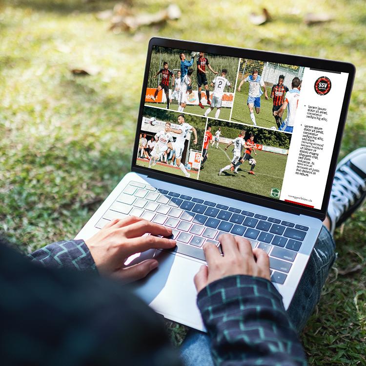 SSV Eggenfelden Microsoft PowerPoint-Masterfolien-Laptop-Park-Mann
