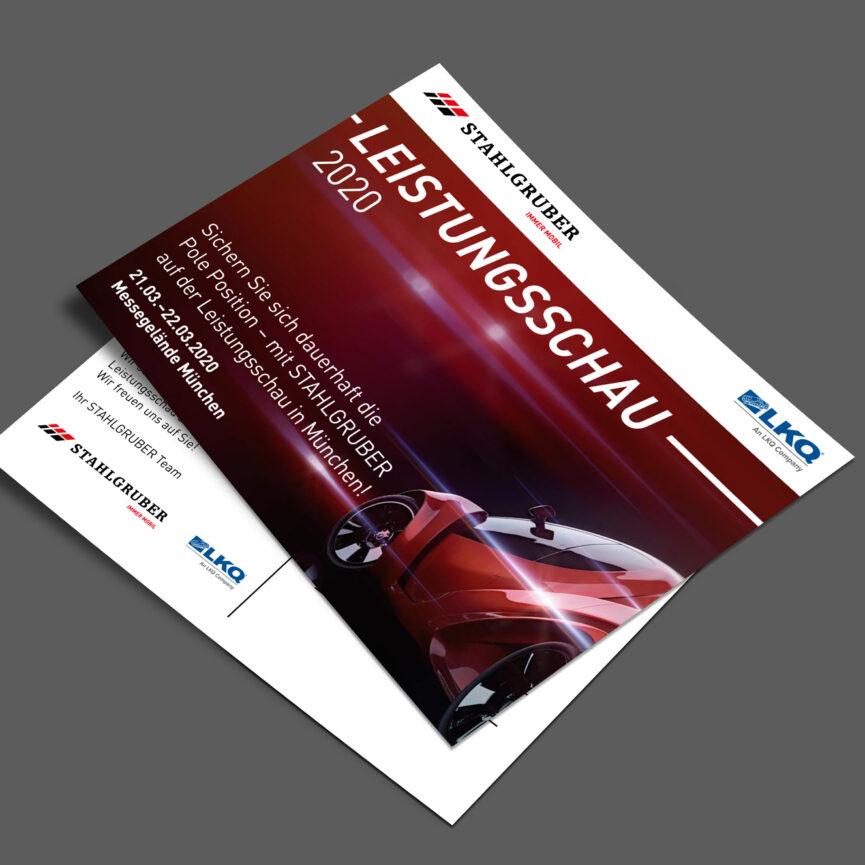 Stahlgruber Leistungsschau Einladung Postkarte
