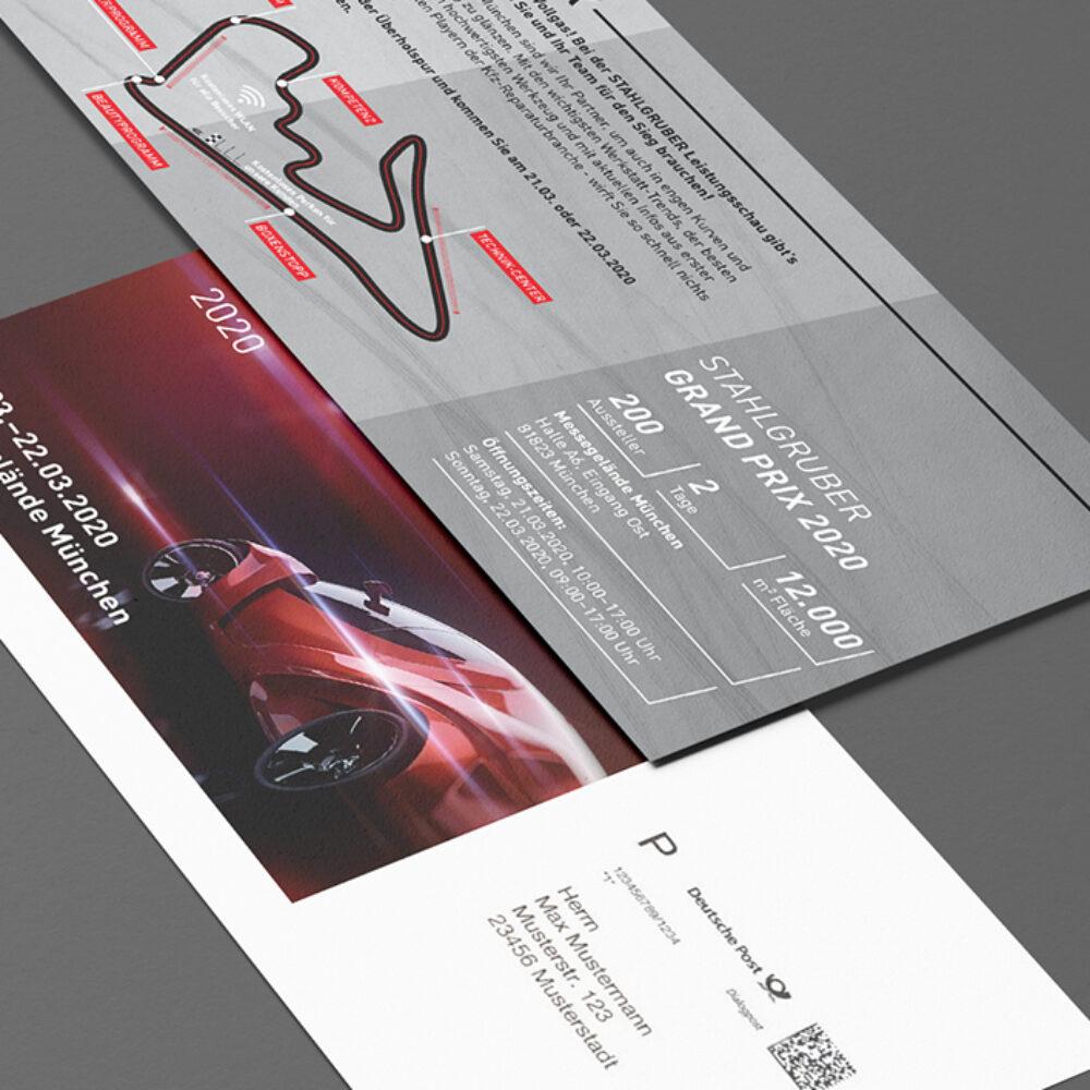 Stahlgruber Leistungsschau Einladung Din lang Save the Date Karte