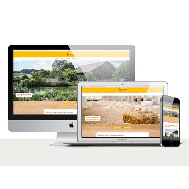 Schemmer Hofbauernhof Website Relaunch Redesign