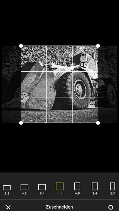 VSCO Foto app text blog screen