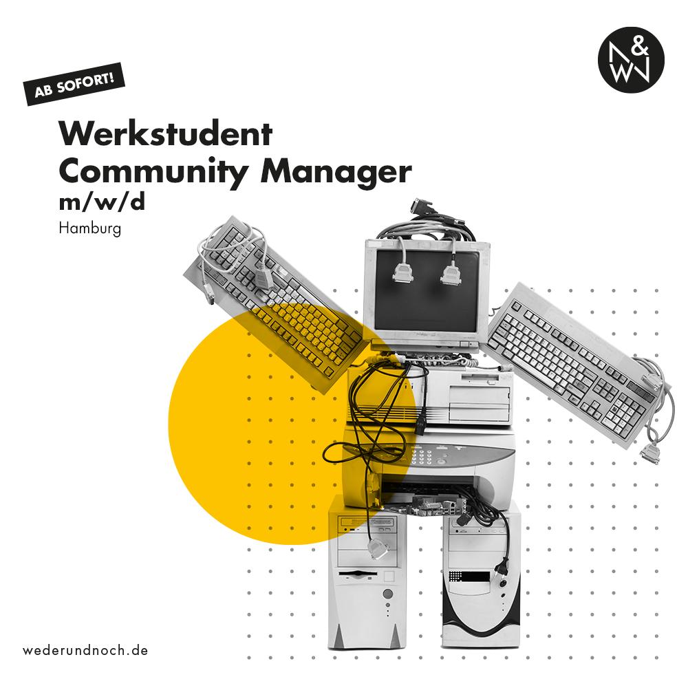 Stellenanzeige Werkstudent Community Manager Hamburg