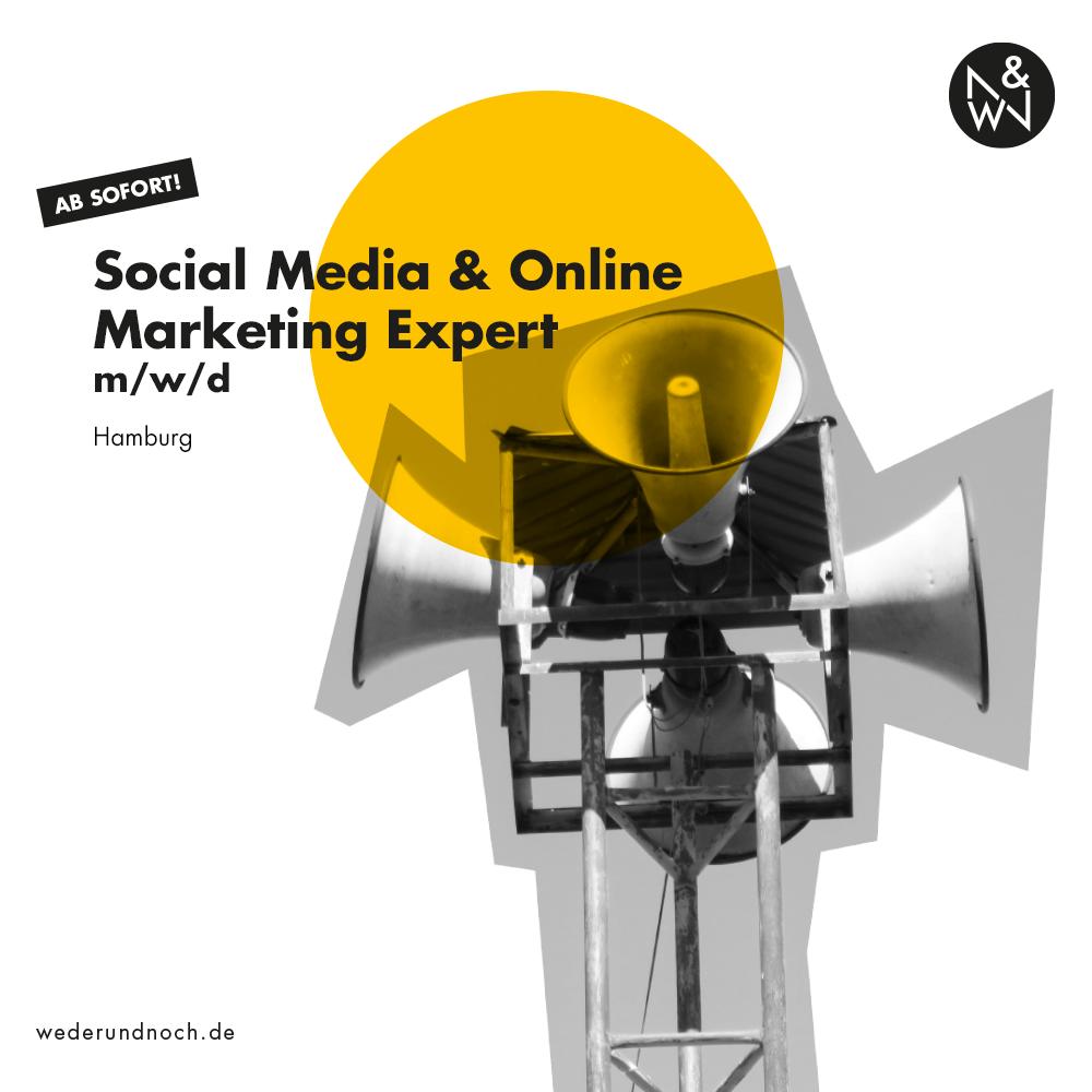 Stellenanzeige Social Media und Online Marketing Expert