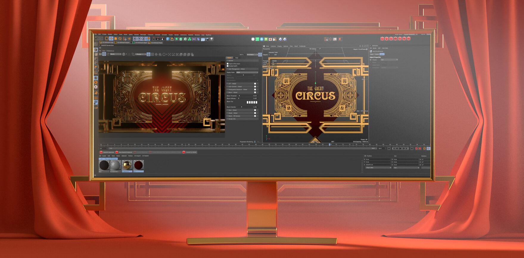 Motion Design The Great Circus Kinowerbung