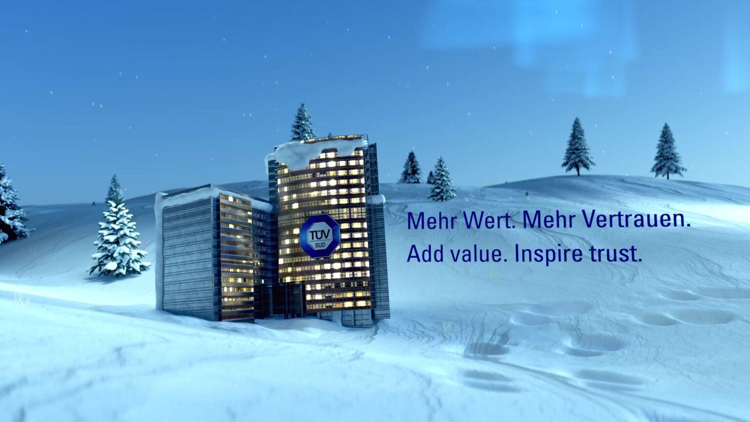 TÜV Süd 3D Animation Styleframe Gebäude