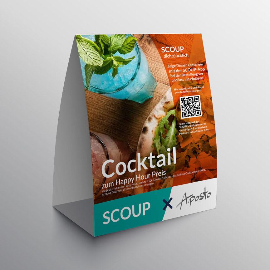 Cocktail Aktion Tischaufsteller