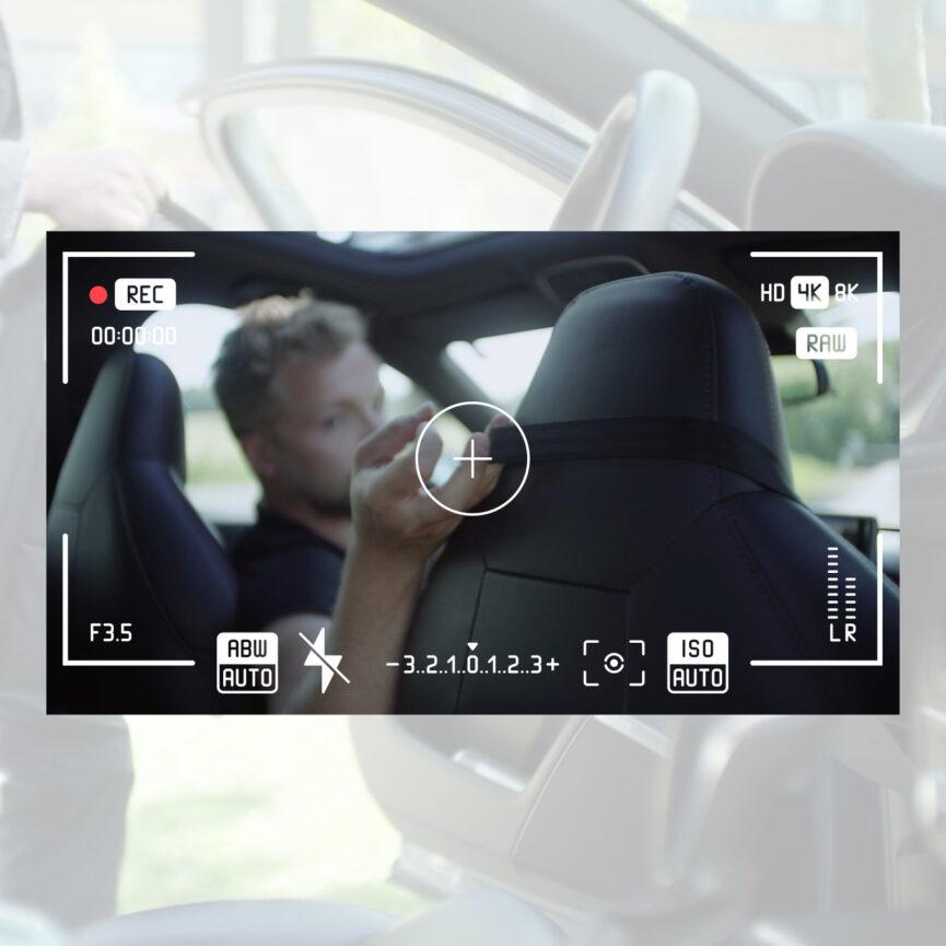 Kameraeinstellung bei Videodreh izzy bag