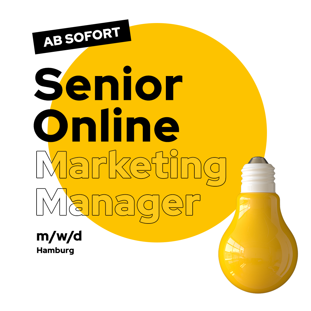 Senior Online Marketing Manager Job Hamburg