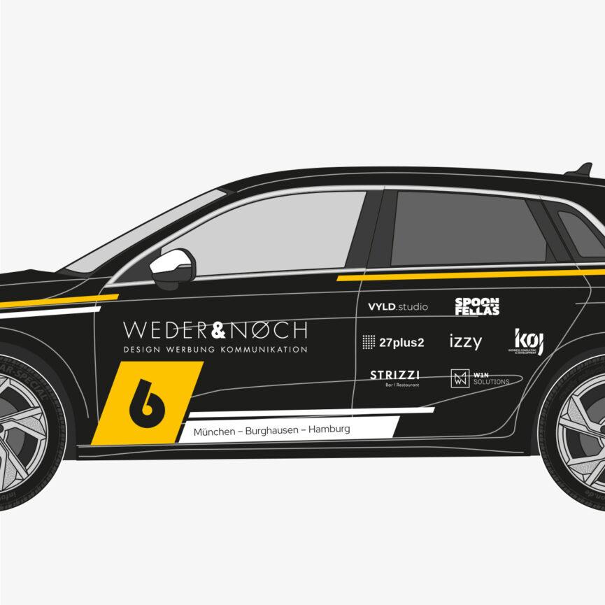 Weder & Noch Fahrzeugbeklebung Audi schwarz