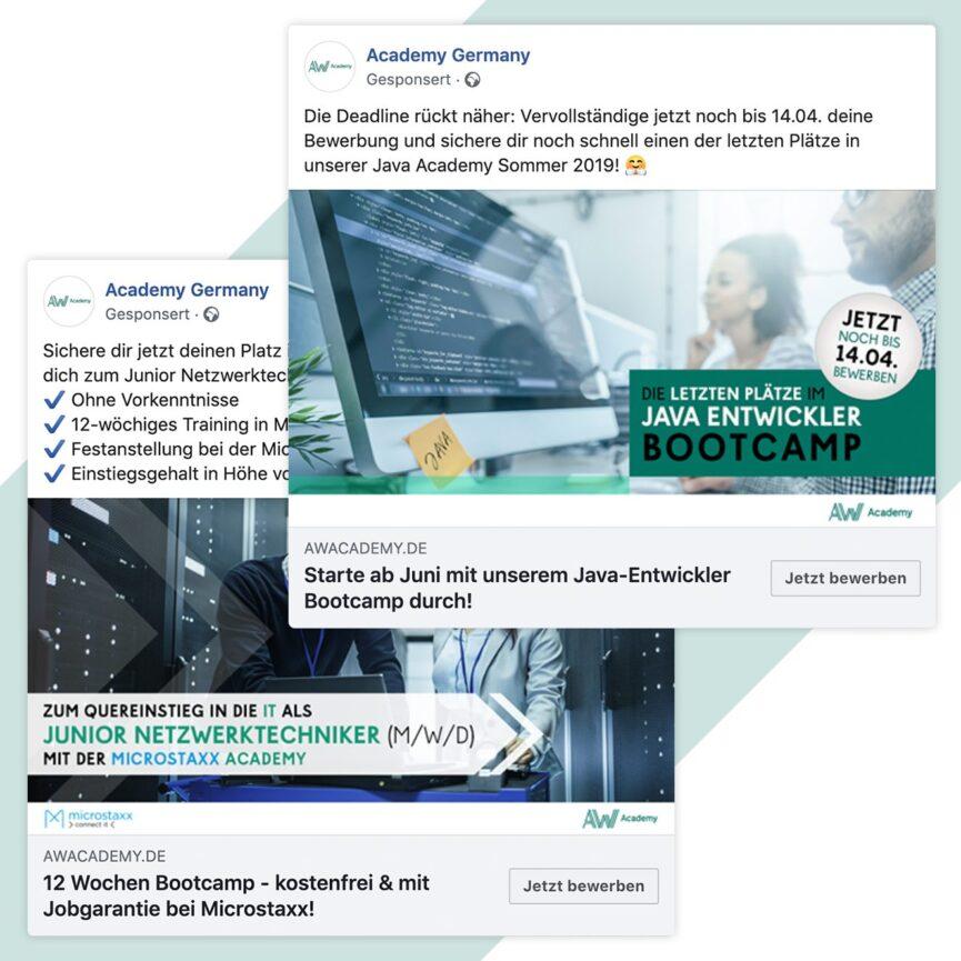 Academy Germany Ads Facebook Desktop