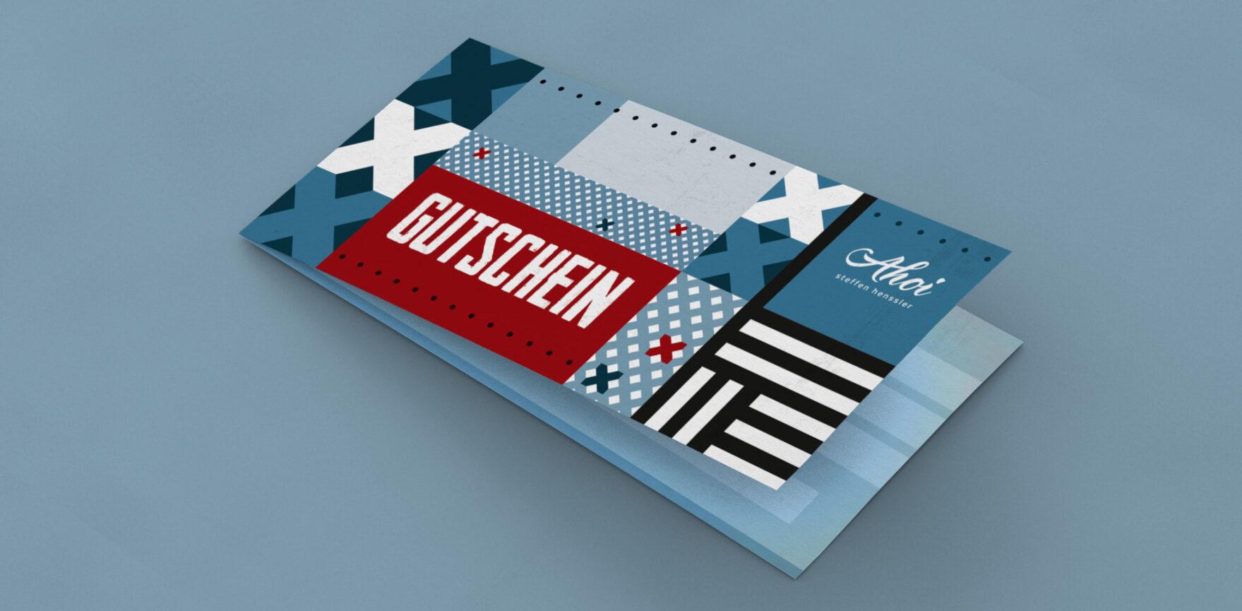 Ahoi Gutschein Travemuende Corporate Design auf Print Produkt