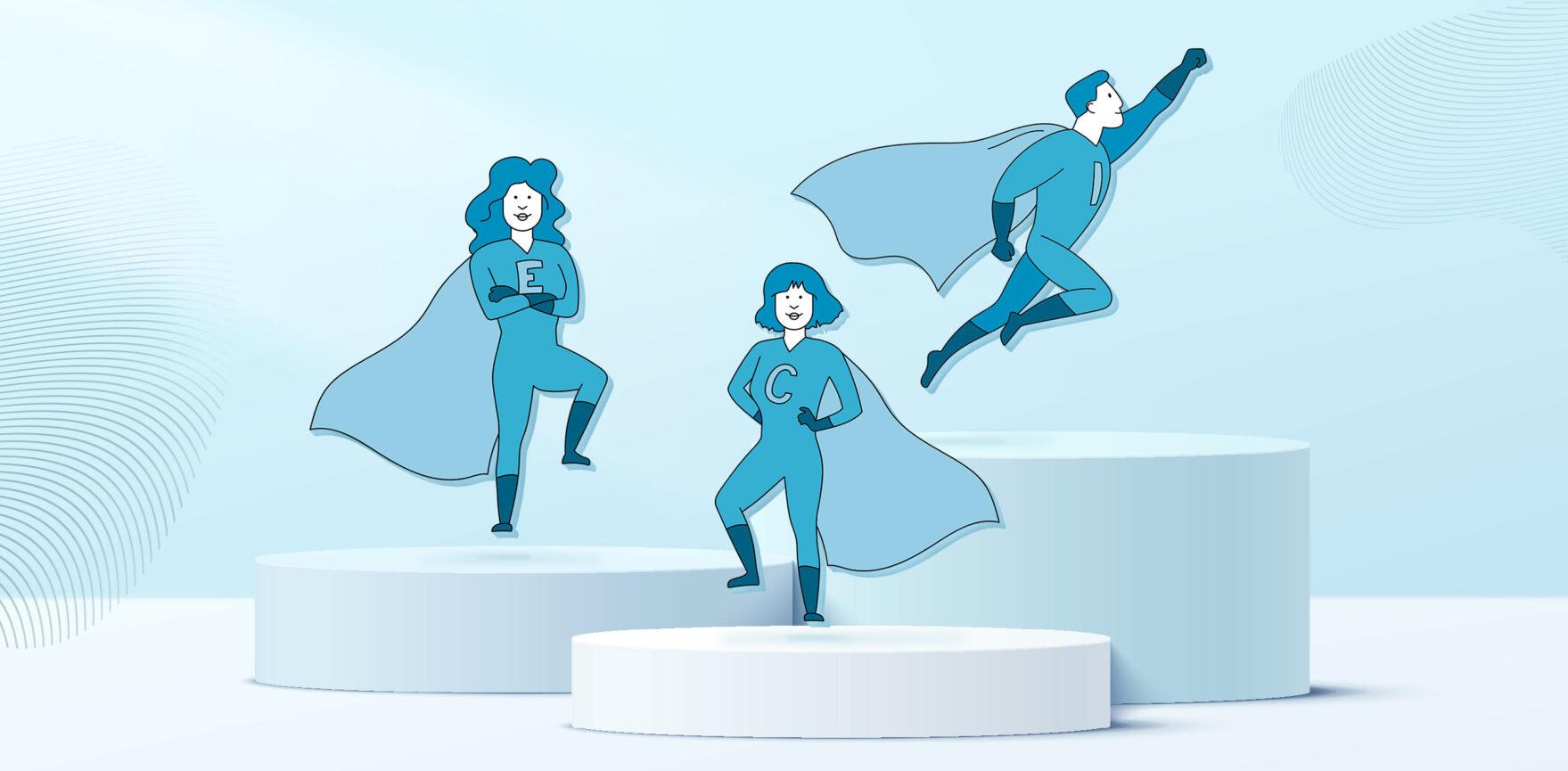 Bayernwerk AG Illustration Leitbild Held:innen