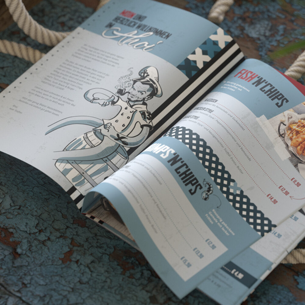 Ahoi Steffen Henssler Speisekarte Print