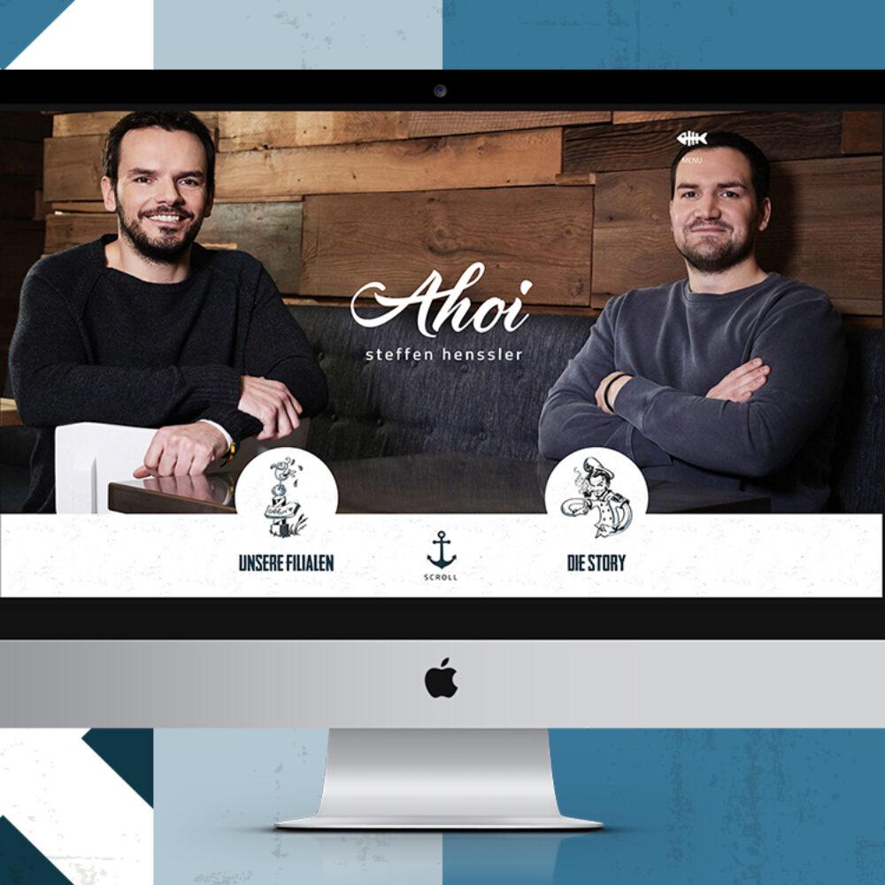 Startseite Ahoi Steffen Henssler Website Peter Henssler und Steffen Henssler