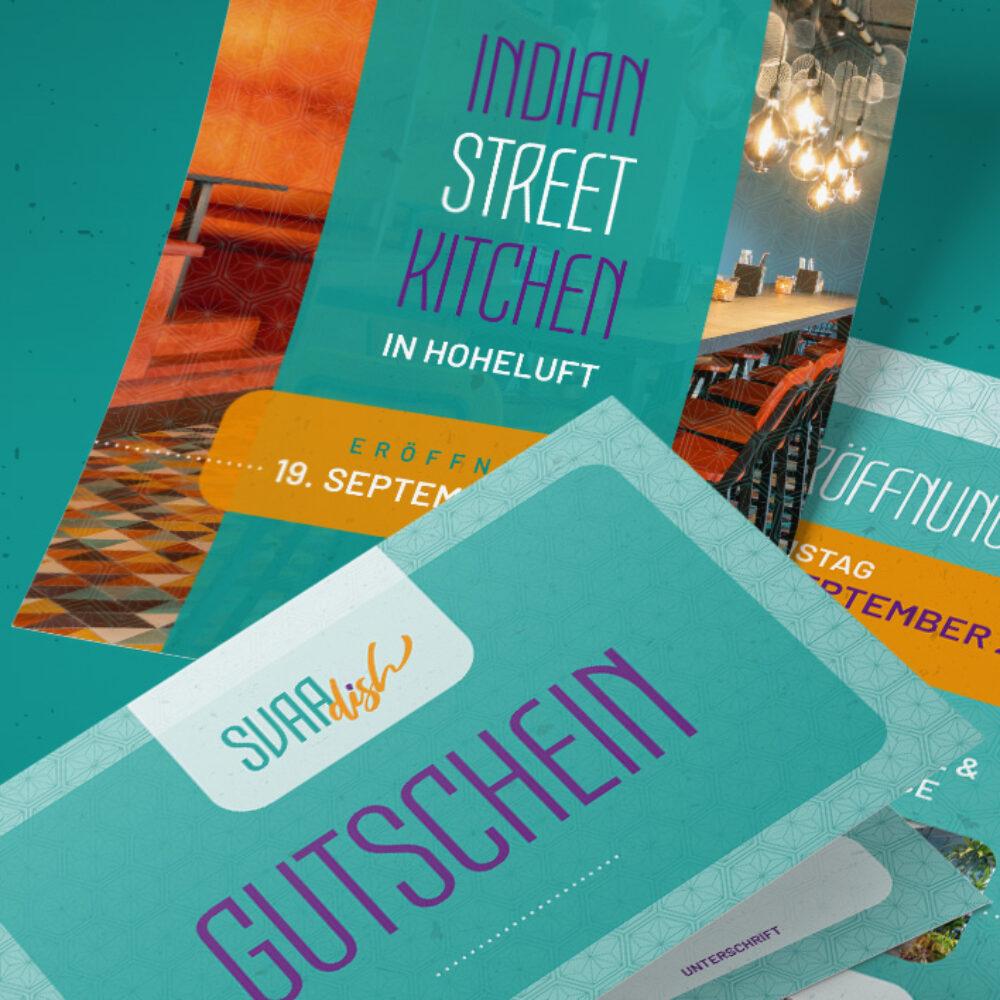 SVAAdish Print-Werbemittel Eroeffnungsflyer Gutschein hochkant