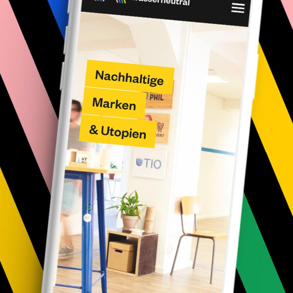 Wasserneutral Programmierung Website Relaunch Smartphone Mobile Design Responsive Design