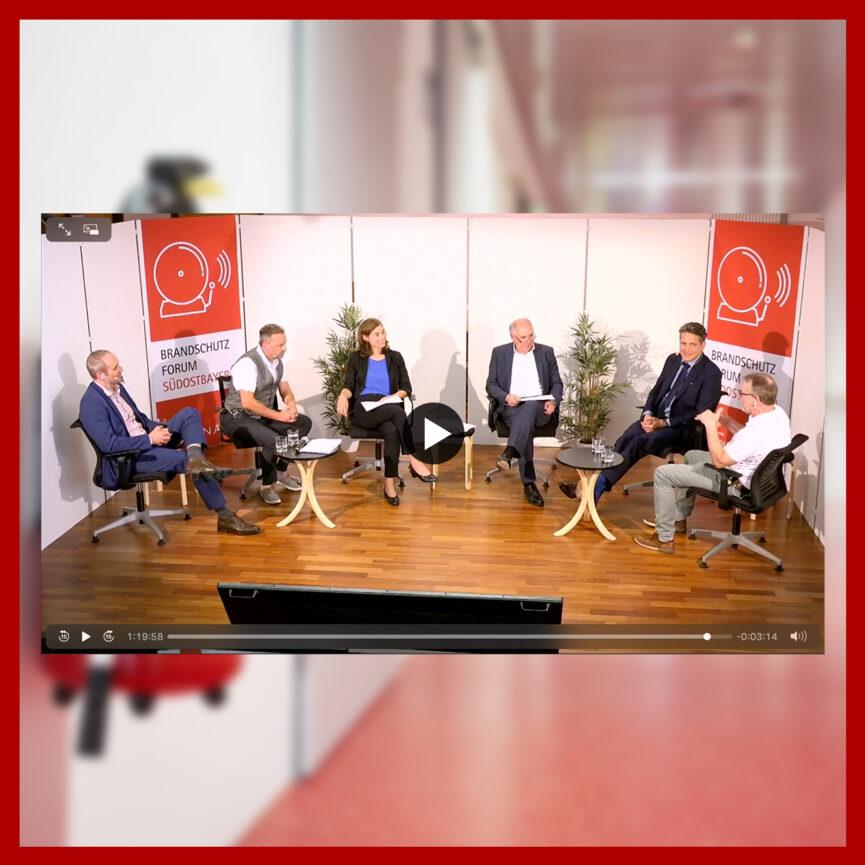 Coplan AG Live-Stream Digitales Brandschutzforum Suedostbayern Player Ansicht