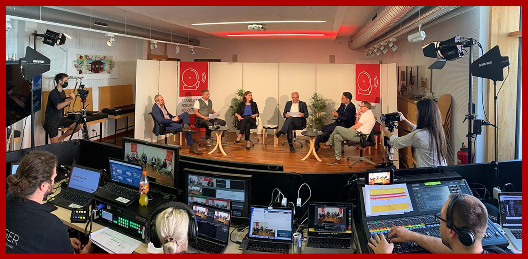 Coplan AG Live-Stream Digitales Brandschutzforum Suedostbayern Regie