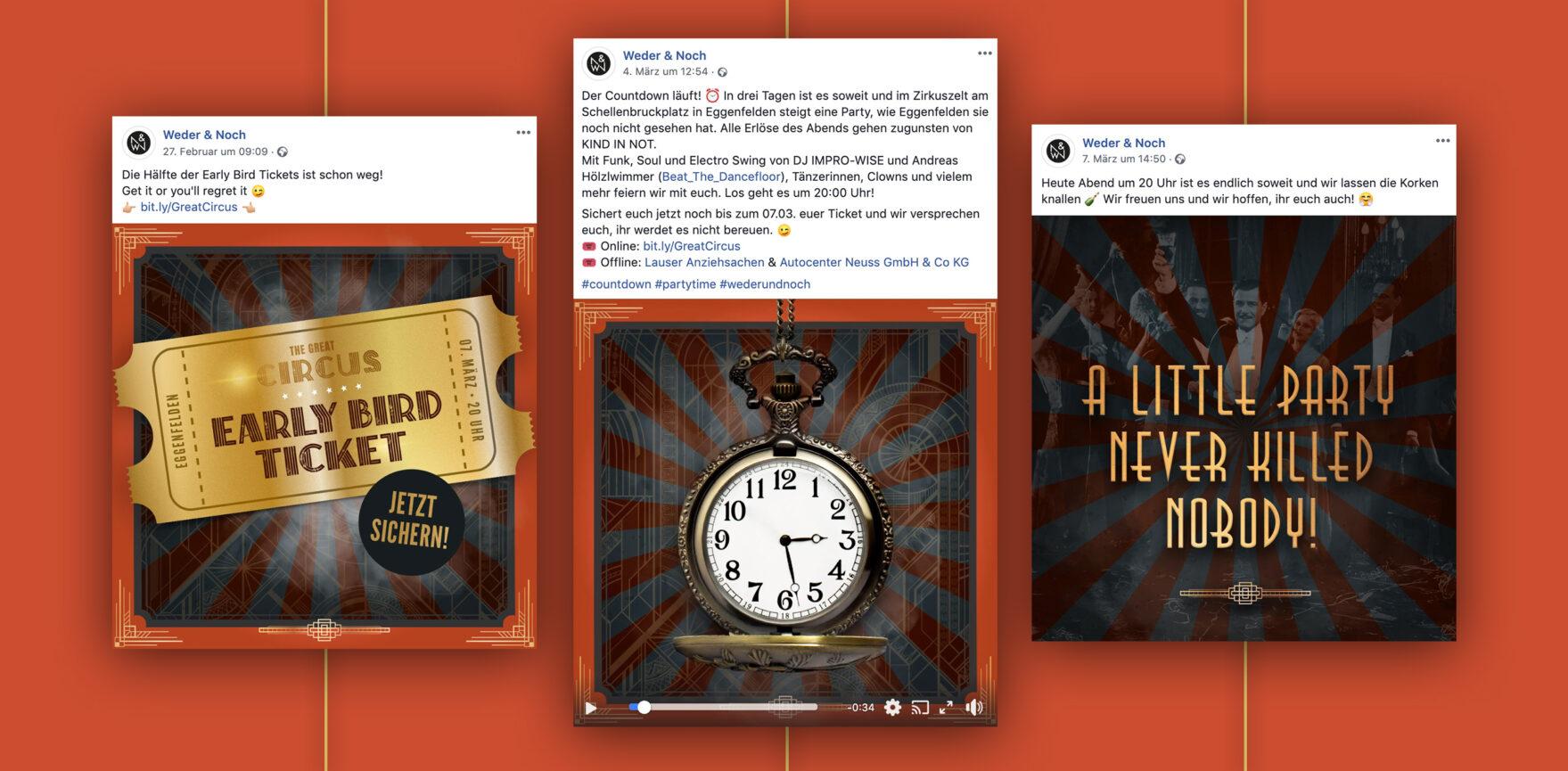 Facebook Posting Great Circus