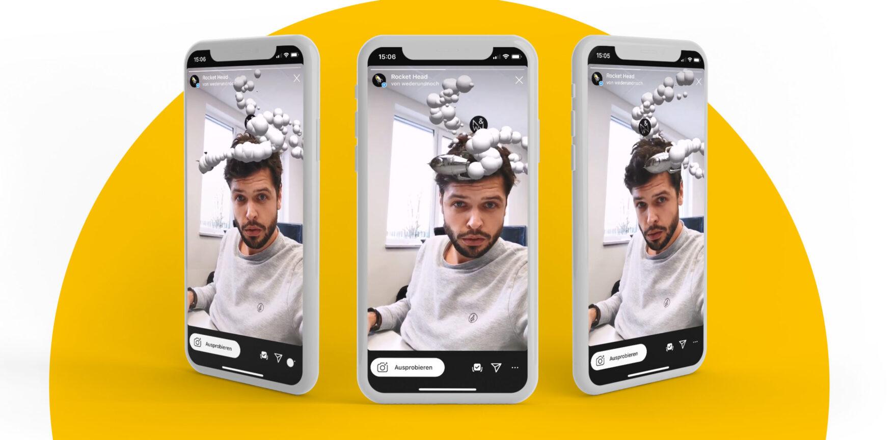 Weder und Noch Instagram Facefilter Creative Rocket