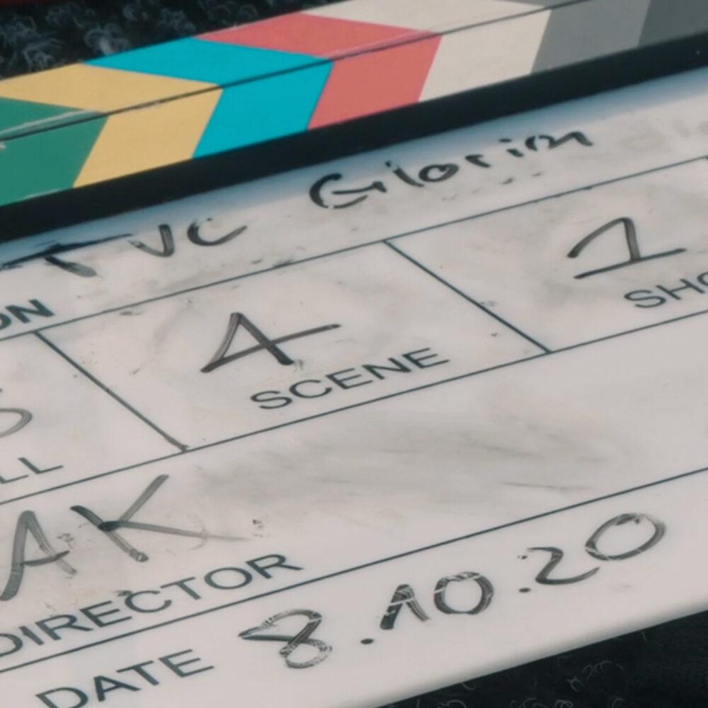 GLORIA MultiJet TVC Dreharbeiten Film-Klappe