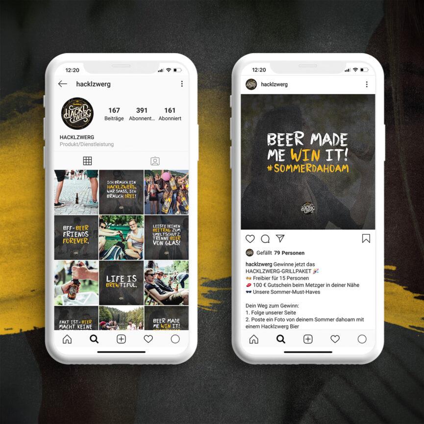 Brauerei Hacklzwerg Social Media Betreuung Instagram