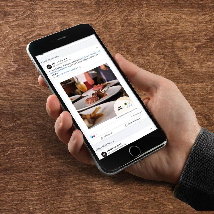 JRE Deutschland Online Kochkurs mit Daniel Schmidthaler Veranstaltung Smartphone