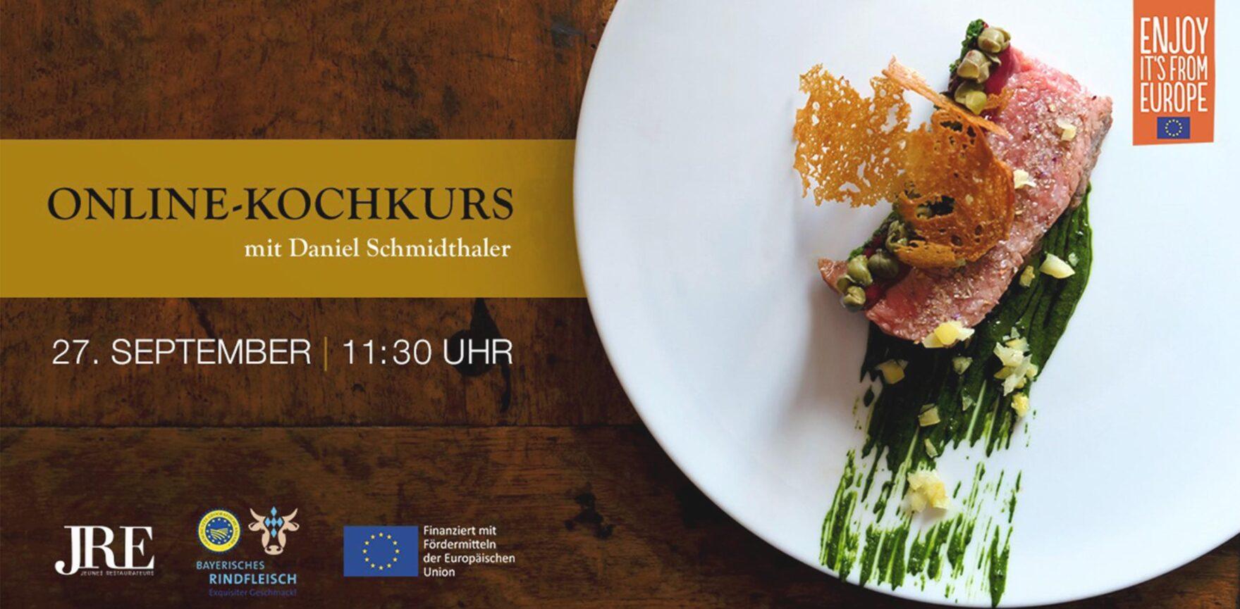 JRE Deutschland Online Kochkurs mit Daniel Schmidthaler Veranstaltungsheader
