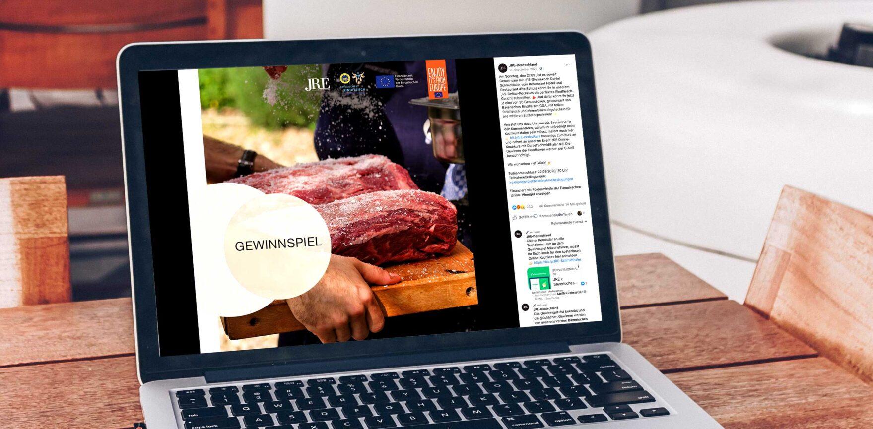 JRE Deutschland Online Kochkurs mit Daniel Schmidthaler Gewinnspiel