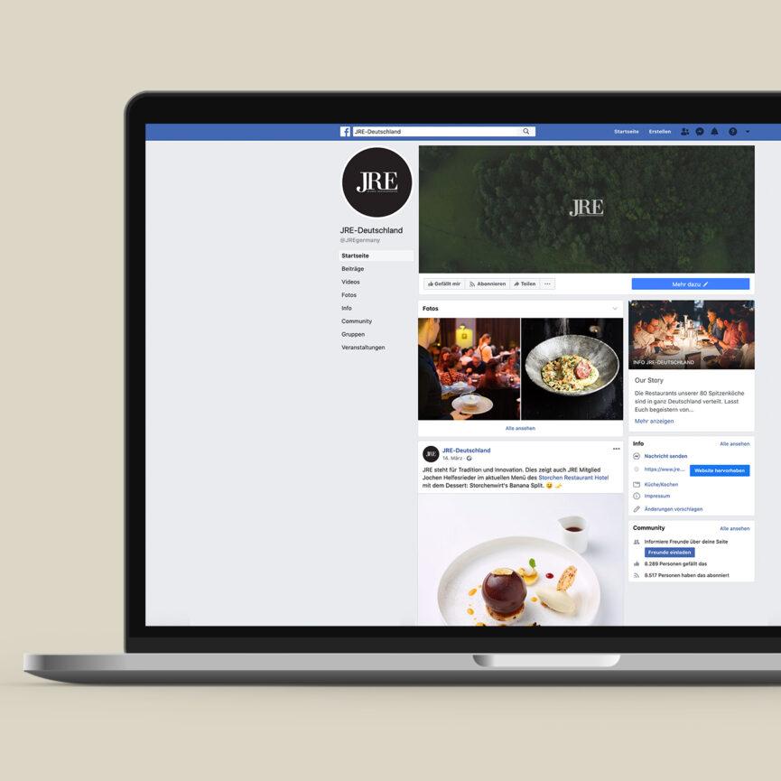 JRE Social Media Betreuung Facebook