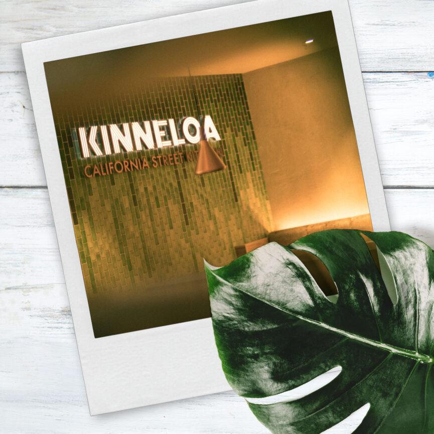 Wandgestaltung Logo KINNELOA gruen