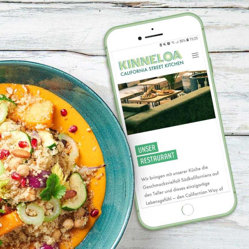 mobile Ansicht Kinneloa Website