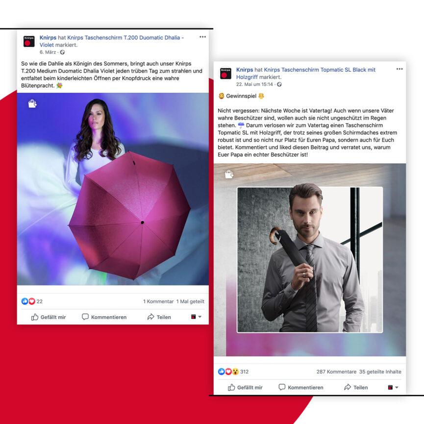 Vorschau Knirps Facebook Posts