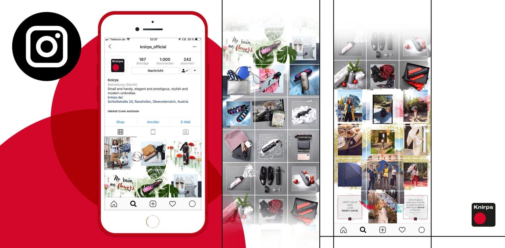 Facebook Post Knirps Seamless Grid Instagram Feed