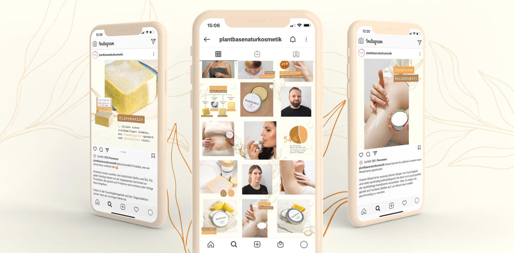 Phones with Instagram Posts
