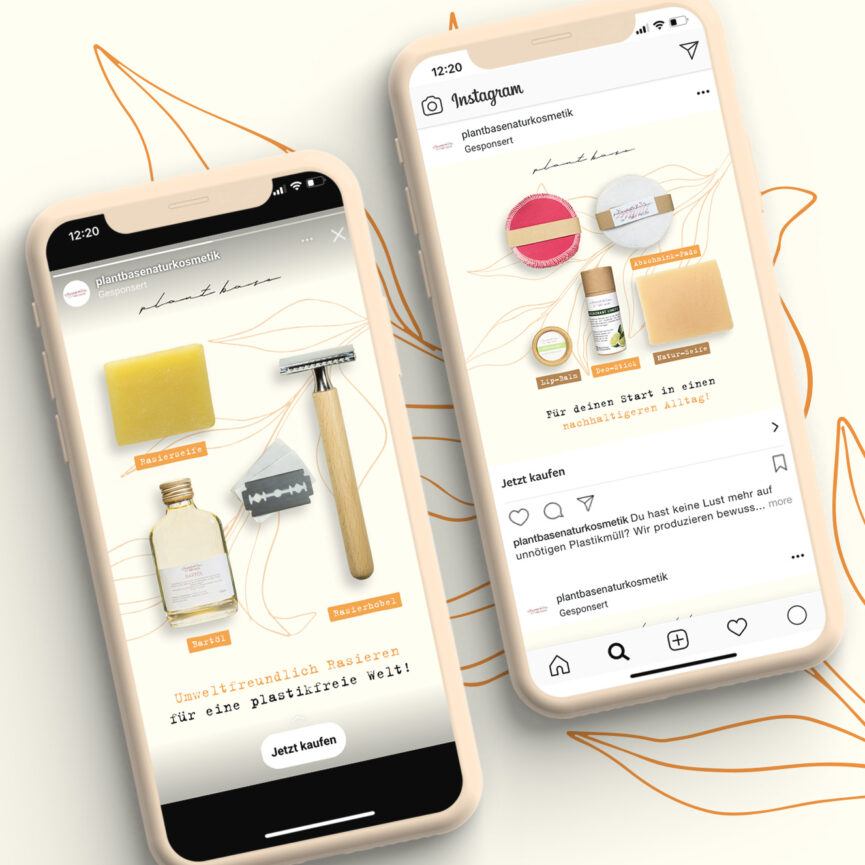 Phones with Instagram Sponsored Posts Social Media