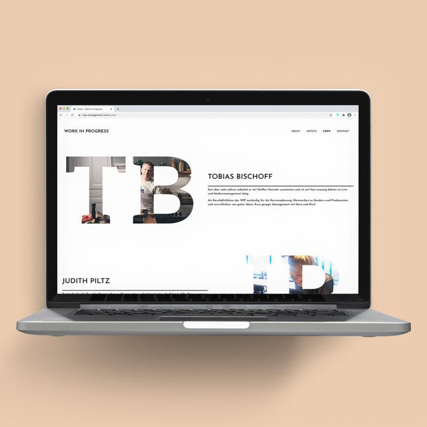 WIP Management WordPress Website Crew Unterseite