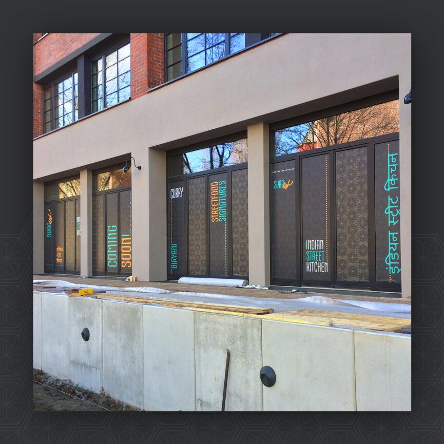 Foto Fensterbeklebung Indian Street Kitchen