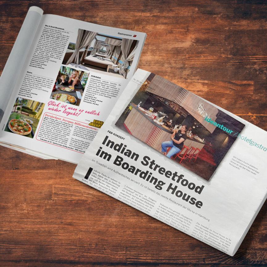 SVAAdish Pressearbeit Veroeffentlichung ahgz