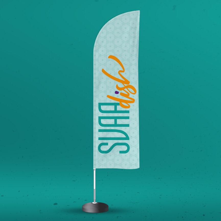 SVAAdish Print-Werbemittel Werbemittel Beachflag